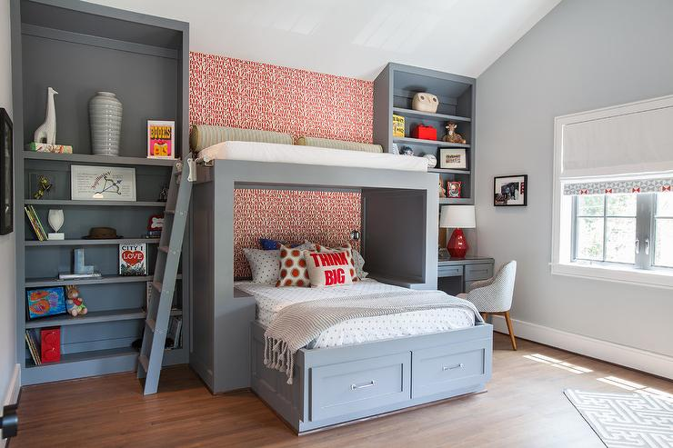 Kids Bed With Overhead Loft
