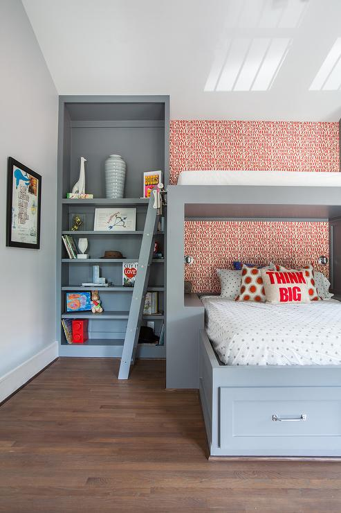 Over The Bed Reading Nook Contemporary Boy S Room