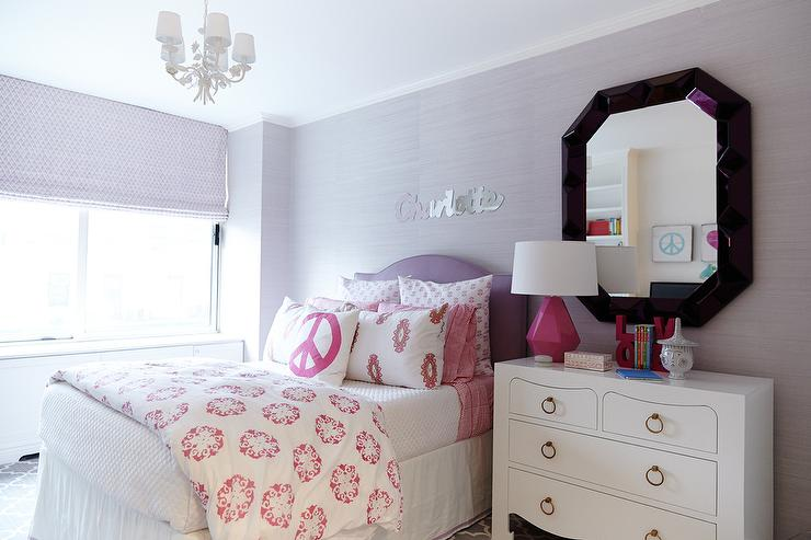 Purple kids room pink accents design ideas - Purple room for girls ...