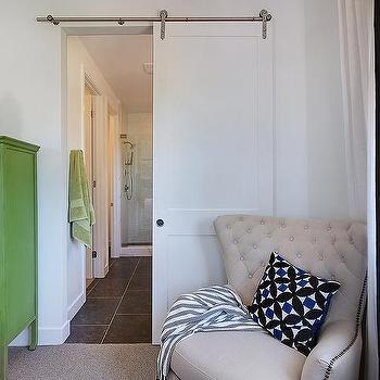 Bbathroom Door on Rails, Contemporary, Bedroom