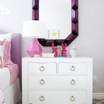 Bungalow 5 Romano Wall Mirror Purple, Contemporary, Girl's Room