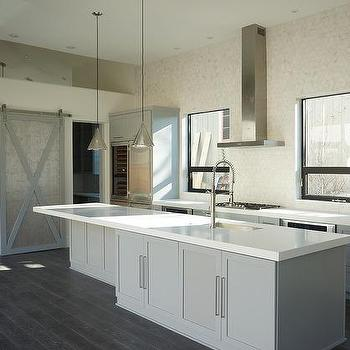 Stove Between Ovens, Contemporary, Kitchen