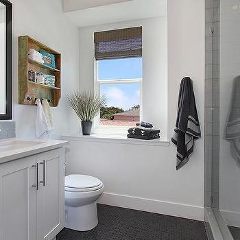 Rustic Distressed Bathroom Shelf, Contemporary, Bathroom