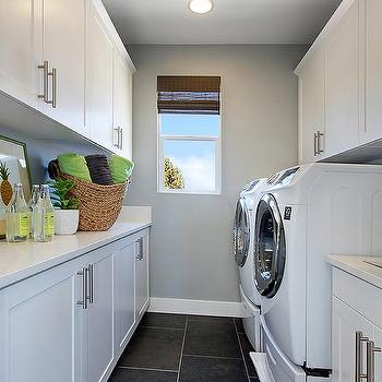 Black And White Laundry Rooms Design Ideas