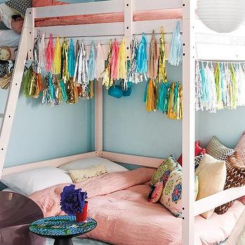 Bunk Bed with Tassels, Contemporary, Girl's Room