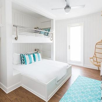 Kids Room with Corner Hanging Chair, Cottage, Girl's Room