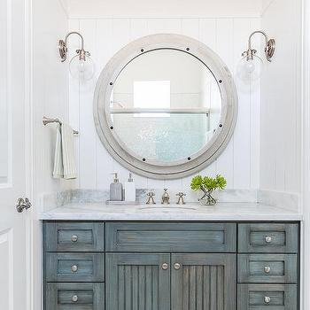 Gray Cottage Bathroom Design, Cottage, Bathroom