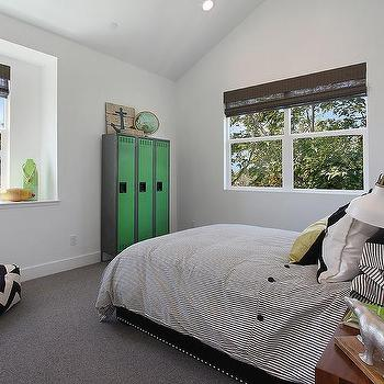 Kids Room with Industrial Lockers, Contemporary, Boy's Room