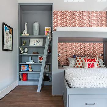 Over The Bed Reading Nook, Contemporary, Boy's Room