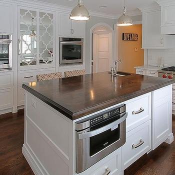 Butcher block countertop traditional kitchen bhg - Kitchen island decorative trim ...