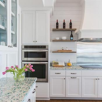 Recycled Glass Kitchen Countertops Design Ideas