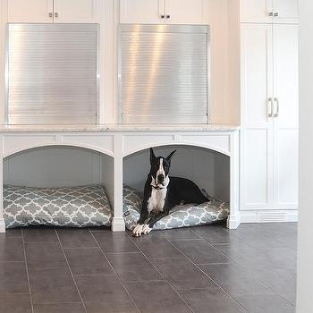 Mudroom With Built In Dog Bed Cottage Laundry Room