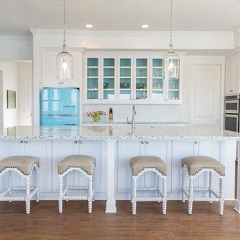 Recycled Glass Kitchen Countertops, Cottage, Kitchen