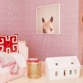 Pink and Red Girls Room, Contemporary, Girl's Room