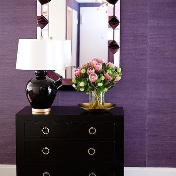 Black and Purple Foyer, Contemporary, Entrance/foyer