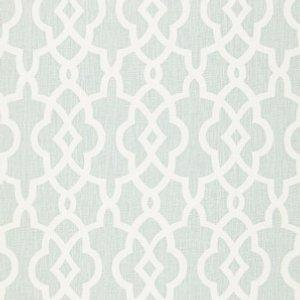 Schumacher Summer Palace Fret Mineral Fabric