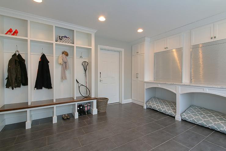 Pet Friendly Mudrooms Contemporary Laundry Room