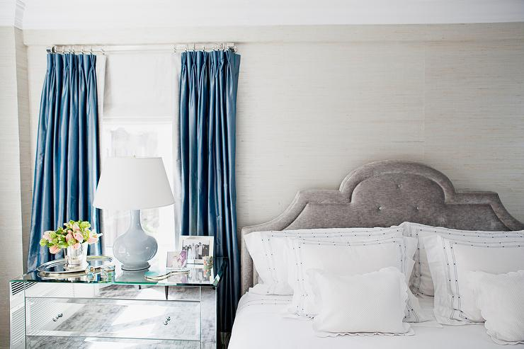 Curtains Ideas blue velvet curtains : Gray And Blue Curtains Design Ideas