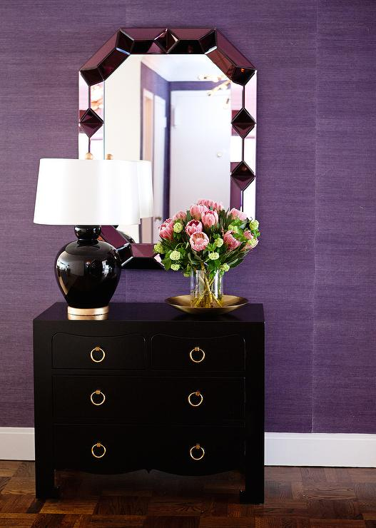 Purple Foyer Paint : Black and purple foyer contemporary entrance