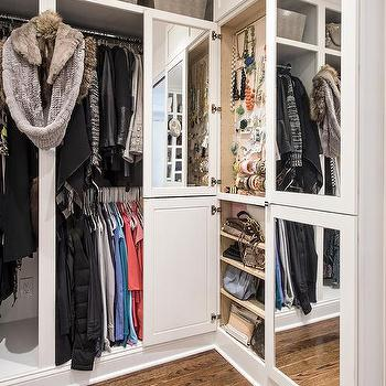 Closets with Mirrored Doors, Transitional, Closet