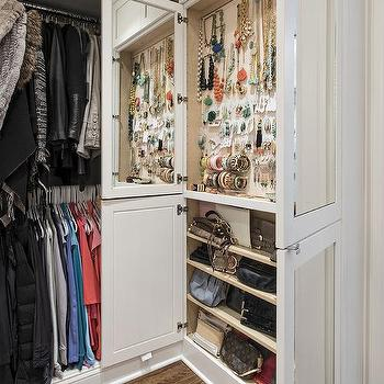 Fashion Accessories Closet, Transitional, Closet