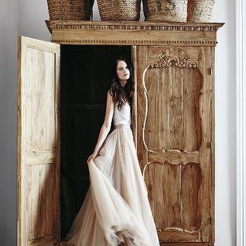 Handcarved Toren Armoire
