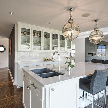 Island with Dual Sink, Transitional, Kitchen