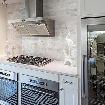 Under Cabinet Glass Front Refrigerators, Transitional, Kitchen