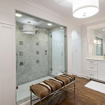 Shower with Multiple Shower Heads, Transitional, Bathroom