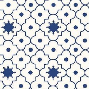 Schumacher Taj Trellis Jaipur Blue Wallpaper