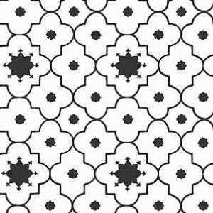 Schumacher Taj Trellis Noir Wallpaper