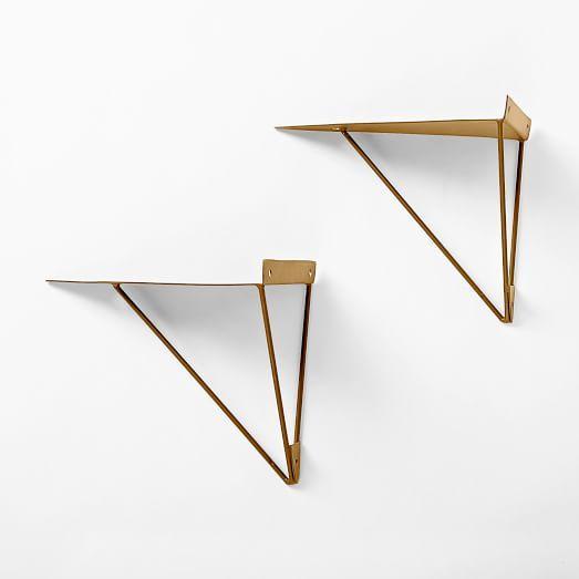 brackets shelf bracket minkinteriors interiors products mink brass