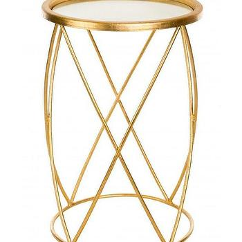 Cross Hatch Side Table in Gold design by Aidan Gray