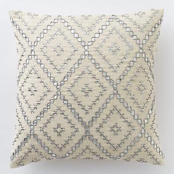 Embellished Diamonds Pillow Cover