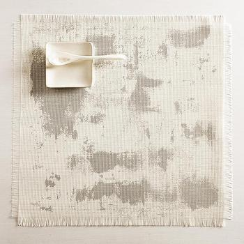 Imprint Square Placemat in Antique Silver design by Chilewich