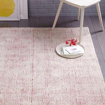 Macaroon Pink Parallels Wool Rug