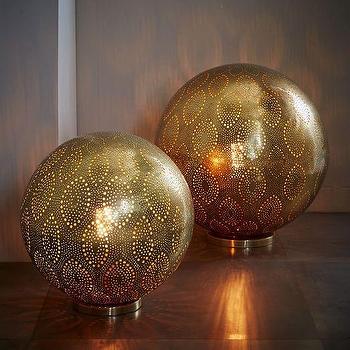 Moroccan Metal Orb Light