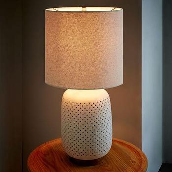 Pierced Ceramic Table Lamp
