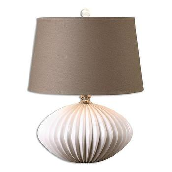 Uttermost Bariano One Light Crackled Gloss White Table Lamp