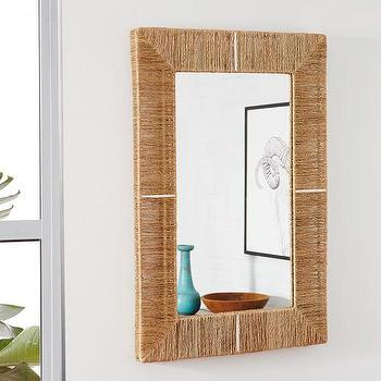 Jute Wrapped Wall Mirror