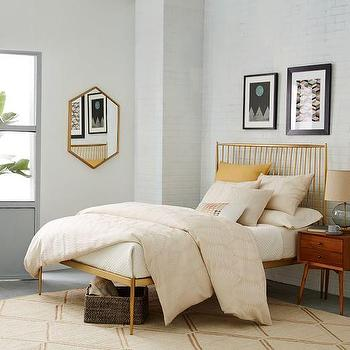 Brass Stella Metal Bed