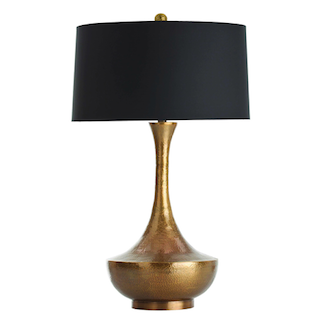 Arteriors Walker Antique Brass Hammered Lamp Look for Less