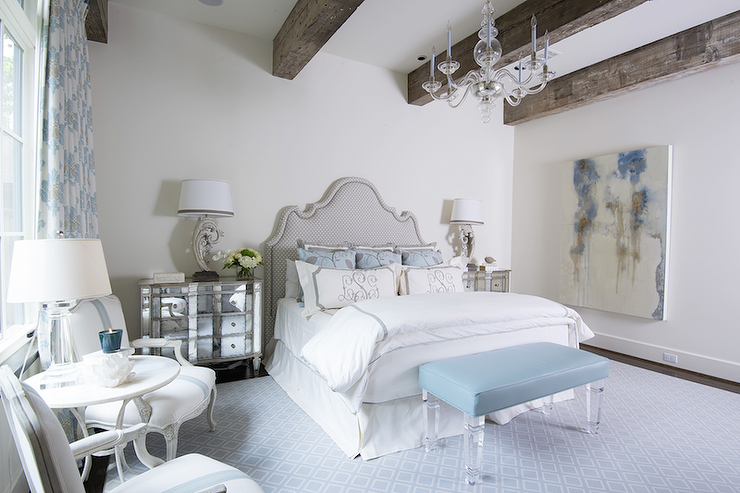 Gray And Blue French Bedrooms French Bedroom - French blue bedroom design
