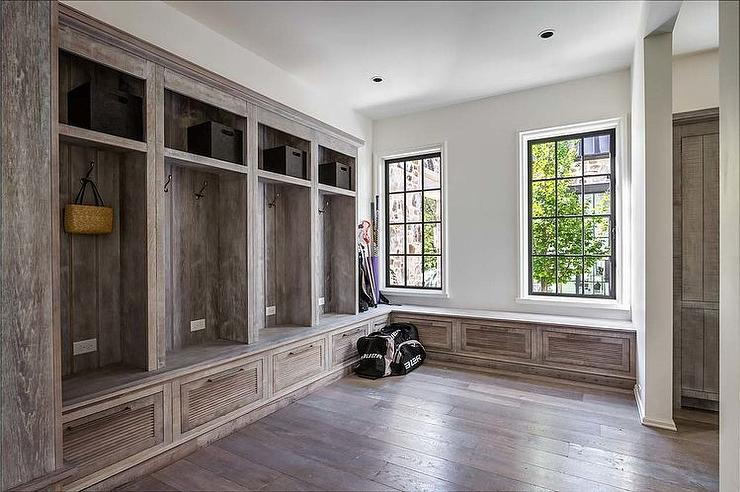 country mudroom open closed cabinets rustic storage bench plans with hooks cubbies