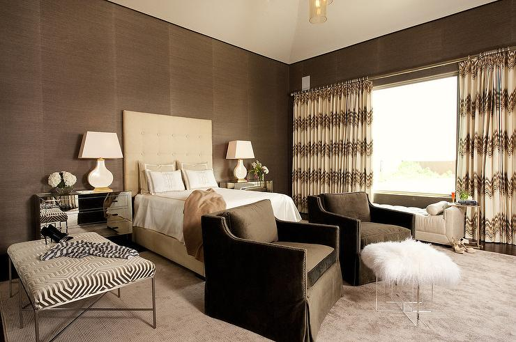 Bedroom Ideas Brown And Cream cream and brown bedrooms - contemporary - bedroom