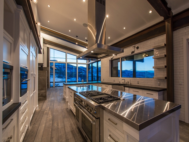 Kitchen With Sloped Ceiling Modern Kitchen