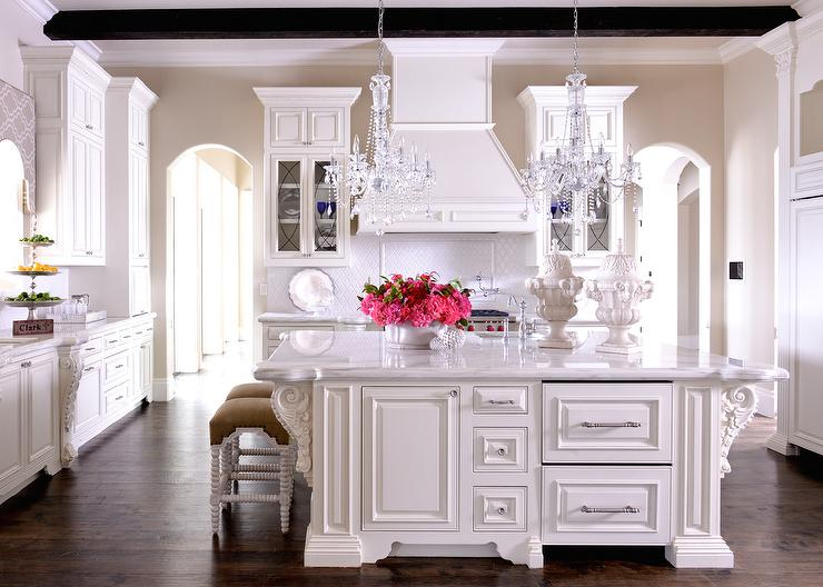 Kitchen Island with French Corbels - French - Kitchen