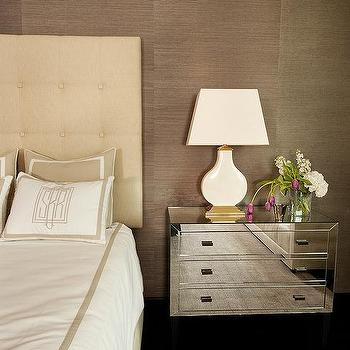 Brown and Cream Bedrooms, Transitional, Bedroom