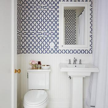 Cole and Son Vivienne Westwood Squiggle Wallpaper, Transitional, Bathroom