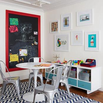 Kids Room with Framed Chalkboard, Contemporary, Boy's Room